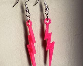 HOT PINK LIGHTNING earrings