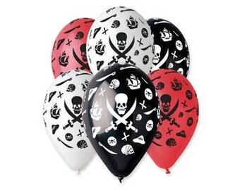 Pirate balloons, Pirate Party Theme, birthday balloons, birthday decorations, pirates