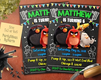 Angry Birds Invitation, Digital File, Angry Birds Birthday Invitation, Angry Birds Birthday, Angry Birds Party