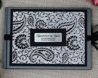 Personalised Wedding Guest Book- Baroque Sparkle