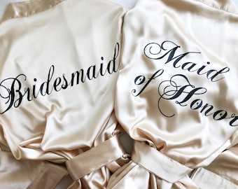 Bridesmaid Robes, Bridesmaid Gifts, Wedding Party Robes, Bridal Robes, Getting Ready Robes, Bridal Party Robes, Bride Robe Set of 6, 7, 8, 9