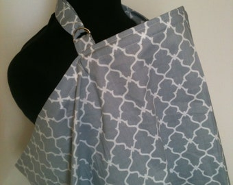 Nursing Cover, Breastfeeding Feeding Cover up, Nursing cover up, Gray Lattice Free Shipping on Second Item