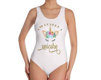 Unicorn Bathing Suit, Unicorn, Bathing Suit, Swimsuit, Unicorn Swimsuit, One Piece Swimsuit, Bride Bridesmaid, Bridesmaid Gift, Bachelorette