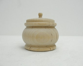Wooden pumpkin jar, wood pumpkin jar, unfinished wooden jar, diy wooden jar, trinket box