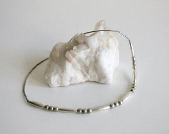 Navajo Desert Pearl Sterling Bead Necklace