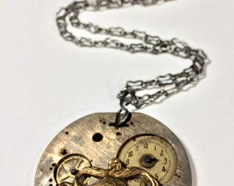 Steampunk Watch Necklace - Free Domestic Shipping