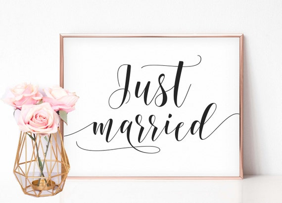 Preferred Just Married Printable Just married Sign Printable Wedding RT34