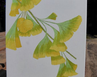 Ginkgo Blank Note Cards 5 pack