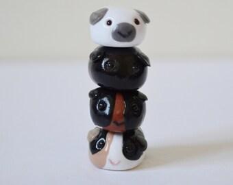 Tsum Pigs - Individual Custom Polymer Clay Guinea Pig Tsums