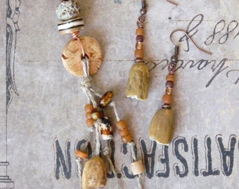 Jewelry Set Woman, Earthy Earrings, Boho Necklace, Nature Necklace, Southwestern Jewelry, Tribal Necklace, Nature Earrings, Boho Earrings