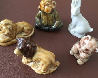 Wade Whimsies - small collection of 5 animals