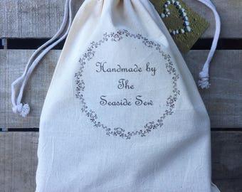 linen dust bag . linen accessory bag . shoe bag . Gloves Bag . Scarf Bag