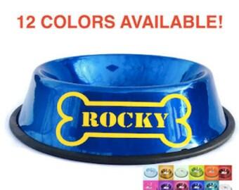 Personalized Dog Bowl with Bone - Custom Dog Bowl - Personalized Dog Dish - Personalized Pet Bowl - Dog Bowl with Name - Customized Bowl