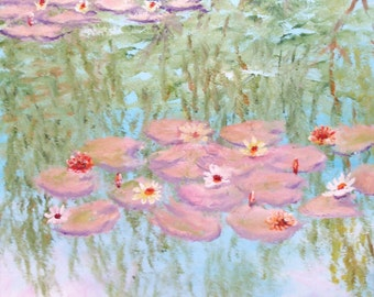 Original Oil - Lily Reflection
