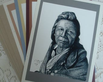 Lomai Joseph of the Flathead Tribe, set of 4 blank cards