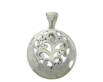 Sale| Filigree Circle Magnetic Pendant, Clip On Pendant, Interchangeable, Removable, DIY Necklace, Filigree Round Pendant, Silver, Charm Pen
