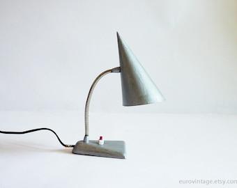 Vintage Small Night Light / BedSide Lamp / Small Desk Lamp / Gooseneck Lamp Light