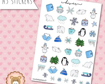 """Planners Stickers """"Hiver"""""""