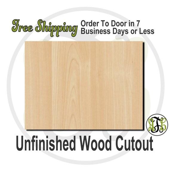 Plaque Rectangle Many Sizes - 40018- Shape Cutout, unfinished, wood cutout, wood craft, laser cut shape, wood cut out, DIY, Free Shipping