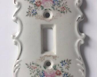 Arnart Porcelain Flowers Light Switch Cover Plate / Set of two (2)