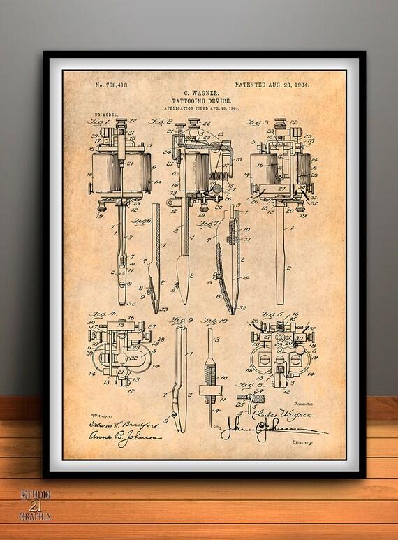 1904 wagner tatuaje mquina impresin patente patente de te gusta este artculo malvernweather Images