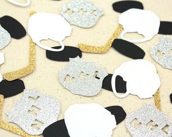 Ice Hockey Glitter Confetti - 50 pieces - NHL Theme, Table confetti, Party Decorations