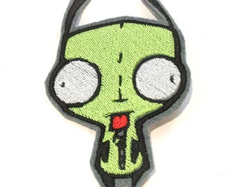 Gir Invader Zim embroidered iron on patch