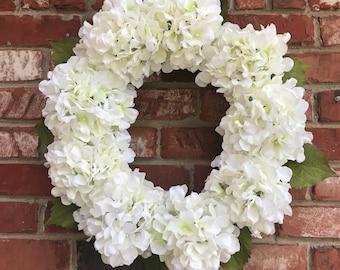 Spring Wreath,Summer Wreath, Hydrangea Wreath, Door Wreaths, All Year Round Wreath, Decorative Wreath, Grapevine Wreath