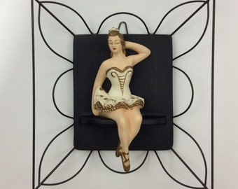 Chalkware Ballerina Wall Decor