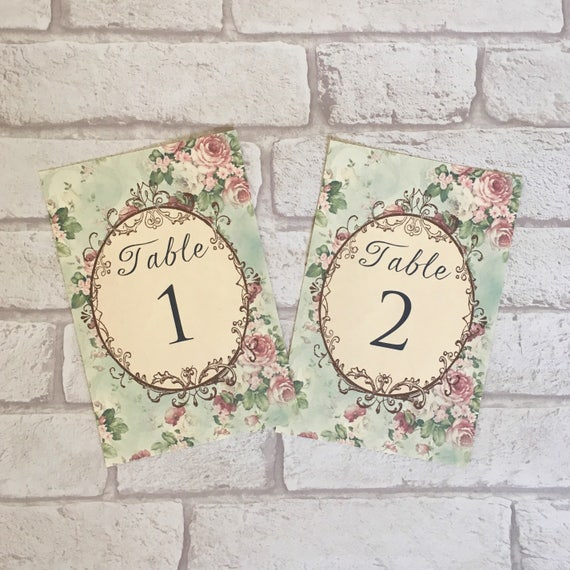 Wedding table cards green vintage antique frame card name reheart Image collections