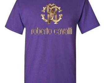 Roberto Cavalli Purple T-Shirt