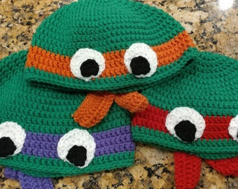 turtle crochet hat