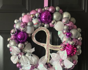 Breast Cancer Awareness Wreath