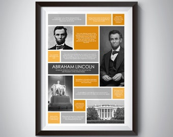 Abraham Lincoln Quote Print; Digital Download; inspirational quote wall art for motivation and success