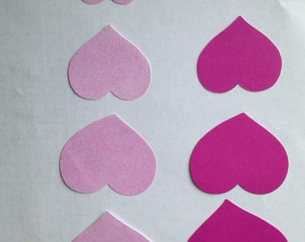 CTMH Raspberry Patterned Paper Hearts