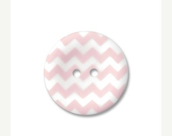 Spring Cleaning Riley Blake Carded Chevron Button Set of 4 in Baby Pink