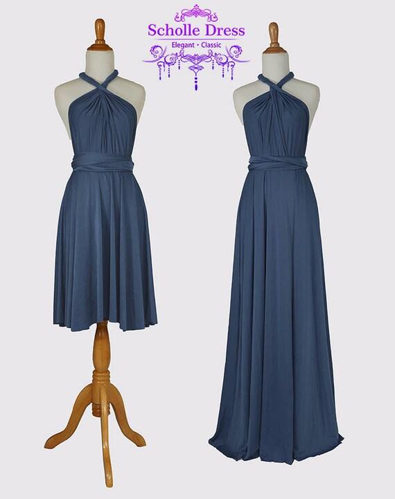 Midnight Blue Dress for Wedding