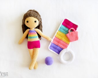 Amigurumi Doll Arms : Crochet pattern in english tracey the ballerina doll