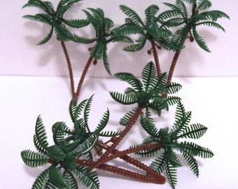 12 Mini Palm Tree Cupcake Picks
