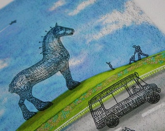 Horse by the Road. Large Giclee print.