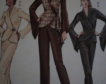 Vogue V7932 Womens Top Jacket Skirt Pants Suit Sewing Pattern  Size 6-10