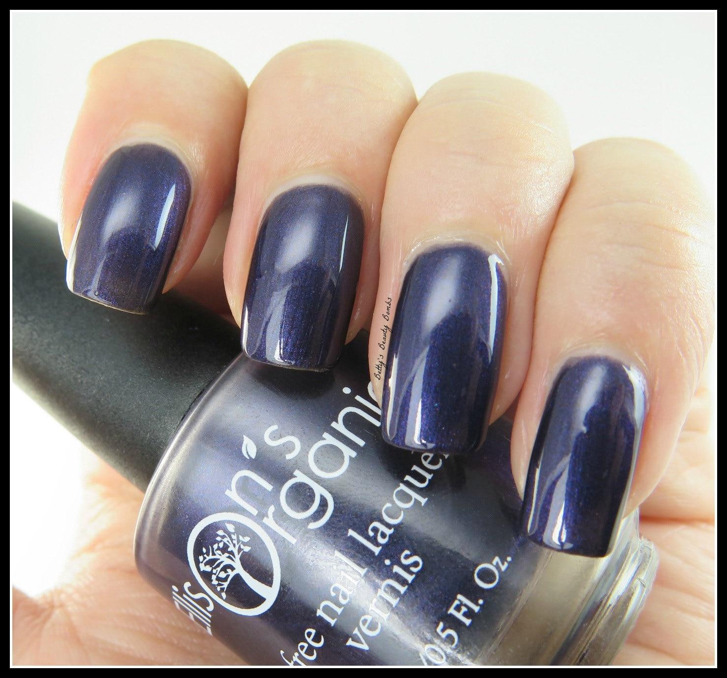 Dark purple nail polish - Vegan Nail Polish - Black nail polish ...