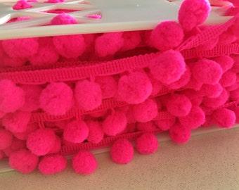 Hot Pink Pom Pom Trim