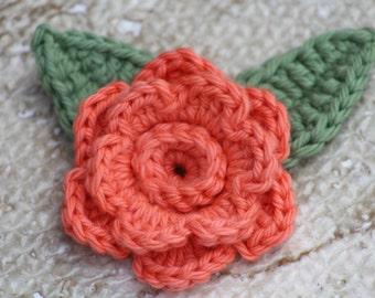 Crochet fleurs, fleurs d'Applique, faux fleurs, décor de printemps, fleurs artificielles, fleurs de printemps, appliques de fleurs au Crochet, jeu de 1 fleur