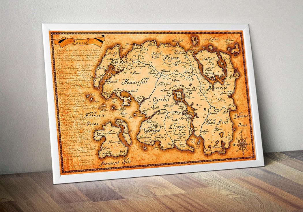 The Elder Scrolls Map Tamriel Map Skyrim Map Morrowind map