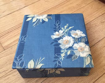 Fabric Floral Storage Box