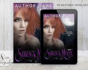 "Premade Digital eBook Book Cover Design ""Siren's Moon"" Urban Fantasy Paranormal Romance NA YA Young New Adult Fiction"
