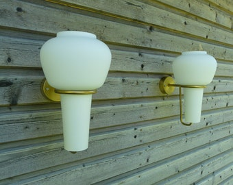 Rare Vintage Hans-Agne Jakobsson wall lamps, sconces, in perfect condition from 1950s, model no. V24