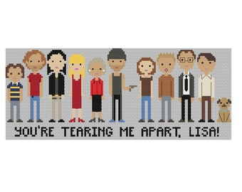 The Room Cast Cross Stitch Pattern