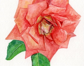 Hand Painted Greeting Card/ Hand Made Card/ All occasion card/ Flower Painting